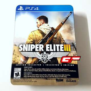 PS4 SNIPER ELITE 3 COLLECTORS EDITION