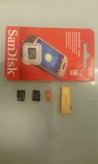 Micro SD (Samsung + Sandisk)
