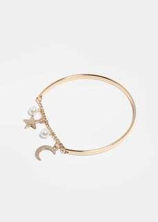 Star and Moon Bangle (Gold)