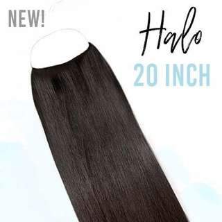"Zala 20"" Dark Brown Halo Hair Extensions 160gr"