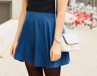 [PRE-LOVED] ♥️ H&M Navy Blue Skater Skirt