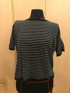Striped long back top