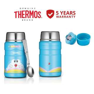 💯AUTHENTIC THERMOS 0.71L DORAEMON STAINLESS KING FOOD JAR WITH SPOON