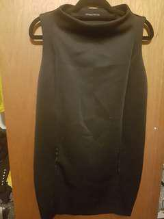 Black zara shift dress