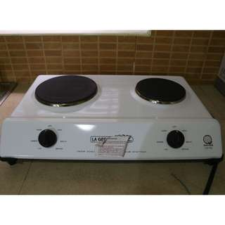 La Germania E268W Double Induction Stove