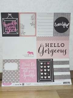 Pink Paislee 'Bella Rouge' Scrapbooking Paper