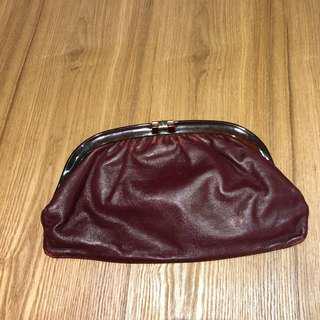 減價‼️SALES‼️ Vintage burgundy Clutch 復古酒紅手拿包