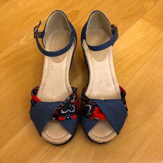 減價‼️SALES‼️ Summer Scandal Blue 藍色可愛涼鞋