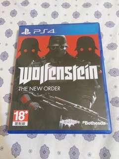 PS4 德軍總部 Wolfenstein: The New Order 二手