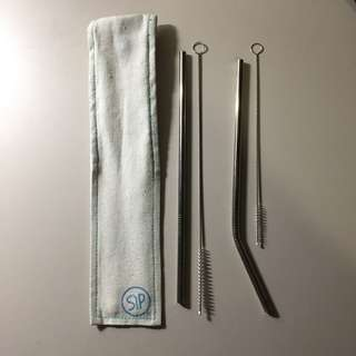 Metal straws 2pcs