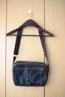 Yoshida Porter Freestyle Waxed Canvas Shoulder Bag (Brown)