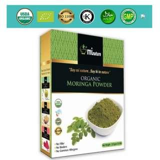 Organic Moringa Powder 227g (0.5 lb)
