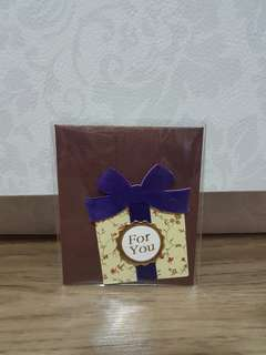 'For You' Gift Tag (Blue Ribbon)