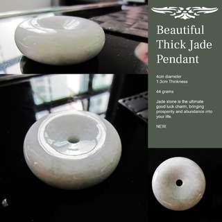 Thick Jade Pendant - 4cm Diameter