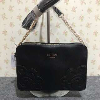 Guess Clutch black & orange