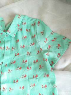 ForMe Printed Birds Polo (FREE SHIPPING)