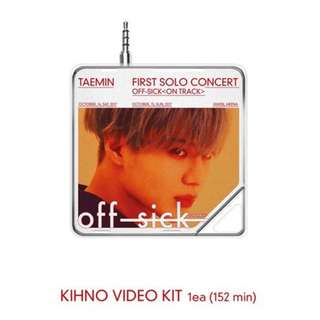 <<代購>>泰民-Taemin 1st Solo Concert Off-Sick (On Track) (Kihno Video)