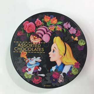 Alice 迪士尼愛麗絲圓形鐵盒