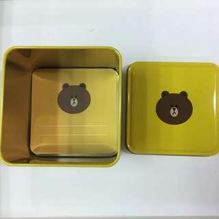 🚚 熊大 line方形鐵盒