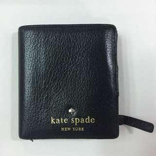 🚚 Kate spade 真皮黑色短夾附零錢夾