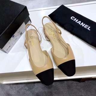 Chanel 香奈兒  米色 黑色  碼數35-41《34,41定制》