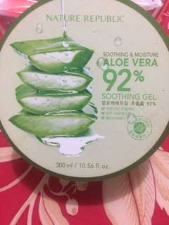 "Reprice!! Aloe vera 92% soothing gel ""hand carry dr korea"""