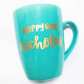 Customisable cup calligraphy anniversary farewell event Day gift gifts present presents Friend friends birthday Mugs Mug teacher Teachers office customised company graduation Colleagues Colleague Personalised corporate cups teacher's teachers' day