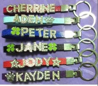 🚚 Name Keychain customise customize keychains key chain children kids teacher's day teacher teachers gift ideas special unique