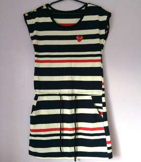 Play | striped dress with pockets
