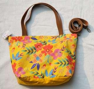 [NEW] Ideku Handmade - Floral Yellow Tote Bag