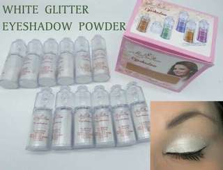 MR PUTIH - MISS ROSE EYESHADOW GLITTER WHITE POWDER