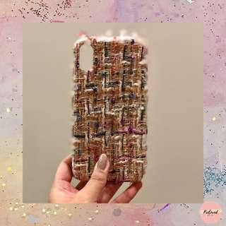 NEW- White Tweed for Iphone X casing