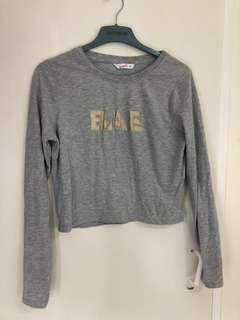 bae supre crop top size small