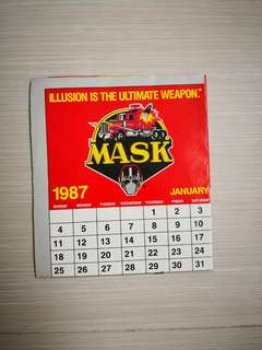 Vintage M. A. S. K toys poster calender