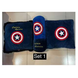 CAPTAIN AMERICA PLUSH PILLOWS SET