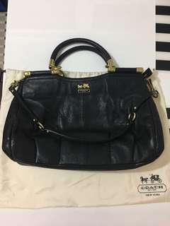 Black Coach shoulder handbag