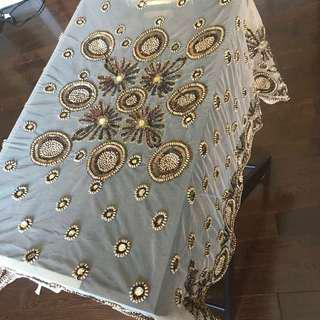 Table cover - Gold and bronze