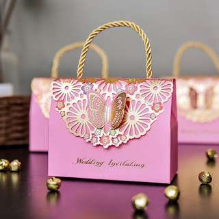 Butterfly Wedding Mini Gift Bag Carrier