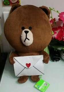 Line friends 熊大情信公仔35cm