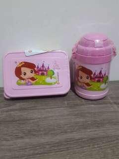 Tepak makan + botol minum princess