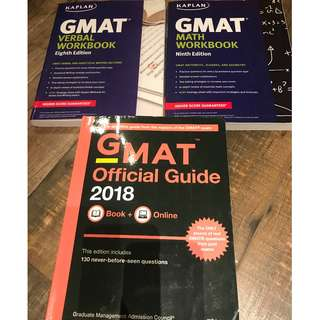 GMAT Official Guide 2018 + Kaplan