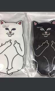 情侶殼中指貓iphone6手機軟殼