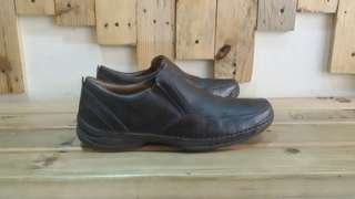 Clarks Unstructured Slip on Leather Brown Shoes Second sepatu bekas branded import