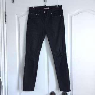 Zara Black Ripped Skinny Jeans