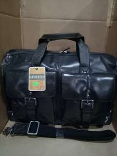 Authentic Fossil Leather Hand Carry Luggage Bag