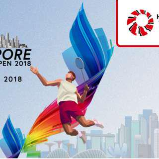 Singapore Badminton 2018 Tickets ( E-tickets)