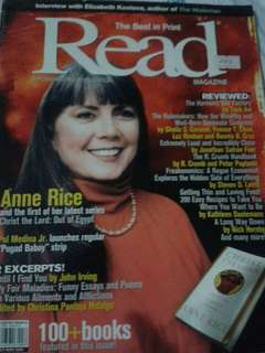 Anne Rice on Read Magazine