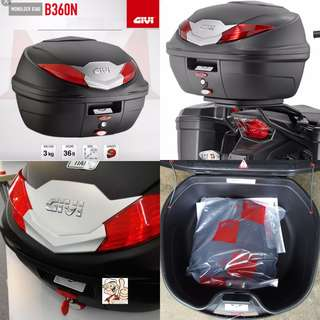 1307---GIVI BOX B360 nt WHITE Reflection For Sale !!!Brand New (YAMAHA, Honda, SUZUKI, ETC)