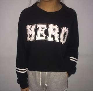 HERO crop sweatshirt