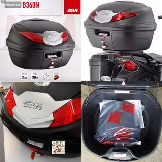 1307---GIVI BOX B360 nt WHITE Reflection For Sale !!!Brand New (YAMAHA, Honda, SUZUKI, ETC)